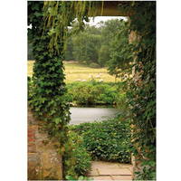 Tuinschilderij Garden view ivy 50x70cm PB-Collection