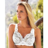 Full Cup Wired White Lace Bra