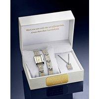 Ladies Personalised Two-tone Watch Set