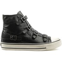 Ash Black Leather Womens Trainer