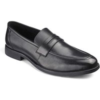 Leather Saddle Loafer Extra Wide Fit