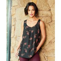 Black Sleeveless Vest Top