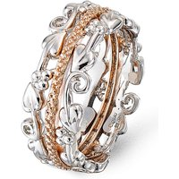 Clogau Silver & Rose Gold Am Byth Ring