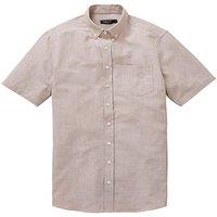 Capsule Oatmeal S/S Oxford Shirt L