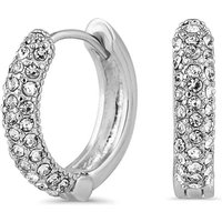 Jon Richard pave hoop earring