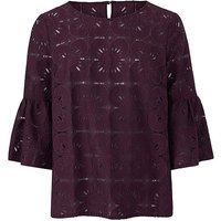 Lace Top with Bell Sleeve