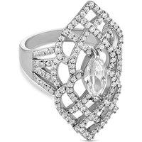 Jon Richard crystal cut out ring