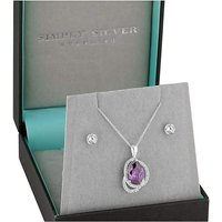 Simply Silver Peardrop jewellery Set