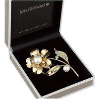 Jon Richard pearl flower brooch