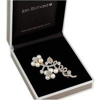 Jon Richard floral twist brooch