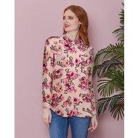 Rose Print Oversized Shirt