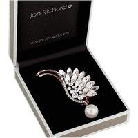Jon Richard crystal wing brooch