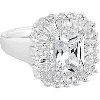 Jon Richard crystal baguette ring