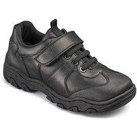 KD Boys Max Black School Shoes