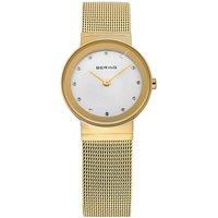 Bering Ladies Gold Mesh Bracelet Watch
