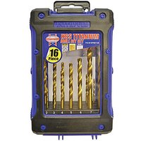 Hss Titanium Drill Set 16pc 1 - 8mm