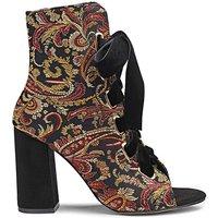 Glamorous Brocade Shoe Boot