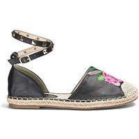 Truffle Embroidered Espadrille D Fit