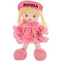 Personalised Rag Doll - Pink