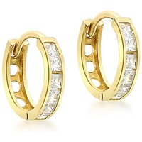 9Ct Gold 1 Row Huggie Style Earring