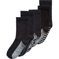 5 Pack Black/White Ankle Socks