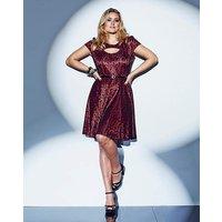 Lovedrobe Lace Belted Skater Dress