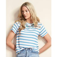Blue Stripe Short Sleeve Swing T-shirt