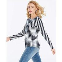 Navy/White Stripe Long Sleeve Top