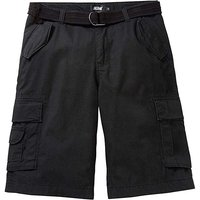 Jacamo Axel Black Cargo Shorts