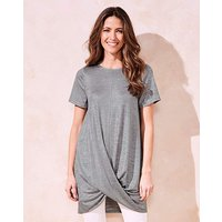 Silver Metallic Twist Hem Tunic