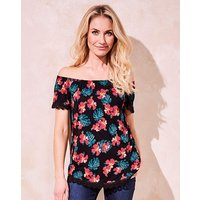 Print Gypsy Jersey Top