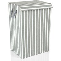Minky Stripe Laundry Basket