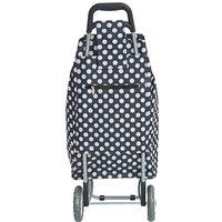 Shopping Trolley - Navy Polka Dot.