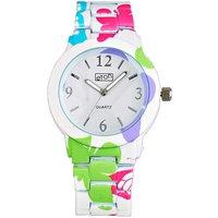 Butterfly Print Bracelet Watch