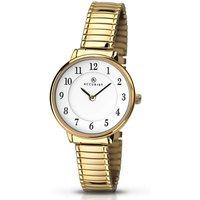 Gold Plated Expander Bracelet Watch