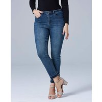 Drew Let-Down Hem Straight Leg Jeans Reg