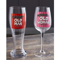 Grumpy and Miserable Glasses Set
