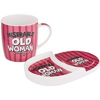 Miserable Old Woman Mug and Snack Tray