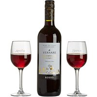 Personalised Red Wine Lovers Set