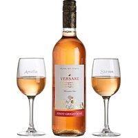 Personalised Rose Wine Lovers Set
