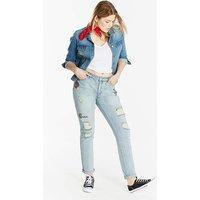 Layla Print Motif Boyfriend Jeans Reg