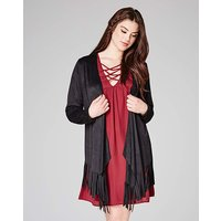 Lovedrobe Suedette Fringed Jacket