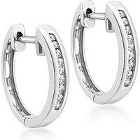 9Ct Gold Diamond Hoop Earring