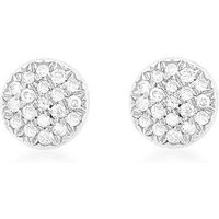 9Ct Gold Diamond Round Earrings
