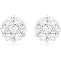 9Ct Gold Diamond Cluster Studs