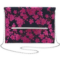 Amelia Oversized Jacquard Clutch Bag