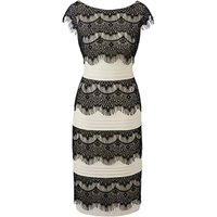 Joanna Hope Eyelash Lace Trim Dress