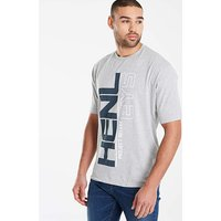 Henleys Grey Marl Strata T-Shirt L