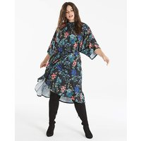 Kimono Sleeve Dress with Wrap Skirt