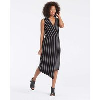 Asymmetric Stripe Midi Dress